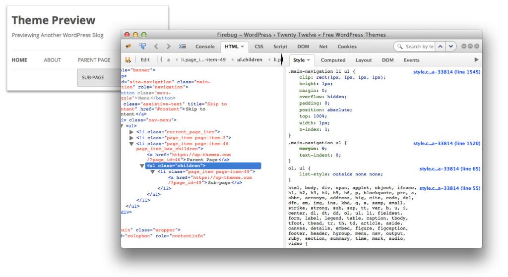 Wordpress Submenu gestalten - Stylesheet CSS