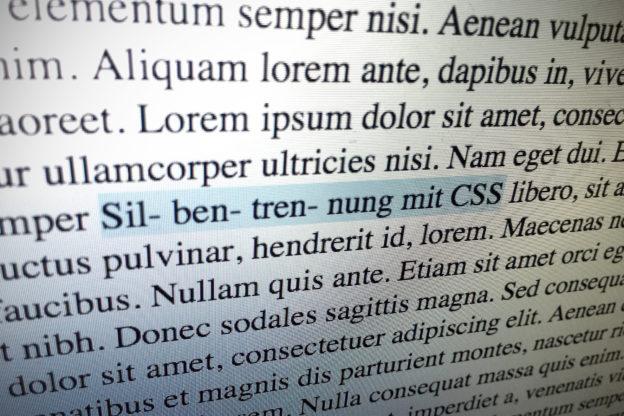 Silbentrennung mit CSS
