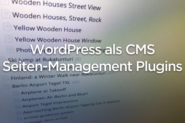 WordPress CMS - Seiten Management Plugins