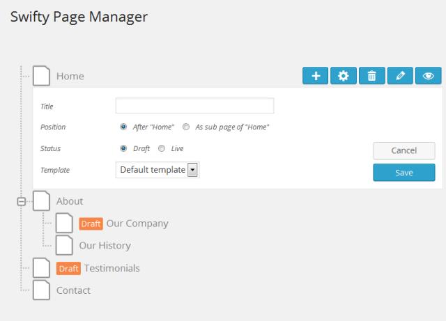 Seiten-Organisation mit swifty-page-manager