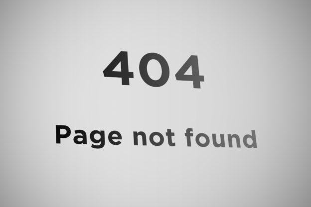 Error 404 page not found Fehler beheben