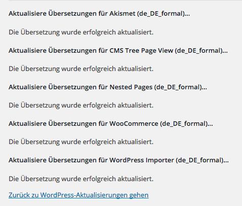 """WordPress: Sprachdateien """"Deutsch Sie"""" werden geladen"""