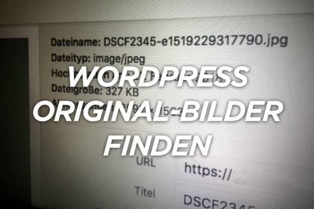 Wordpress: Original-Bilder finden